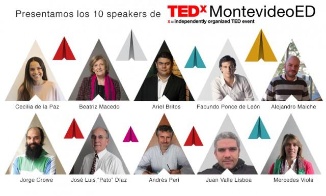 Con ustedes… ¡Los diez oradores del TEDxMontevideoED!