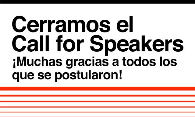 Cerramos el #callforspeakers