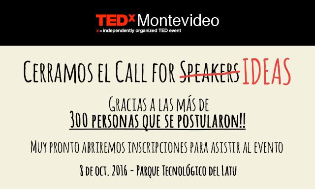 Call For Speakers (Ideas) CERRADO!